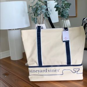 NWT Vineyard Vines for Target Whale Line Beach Bag